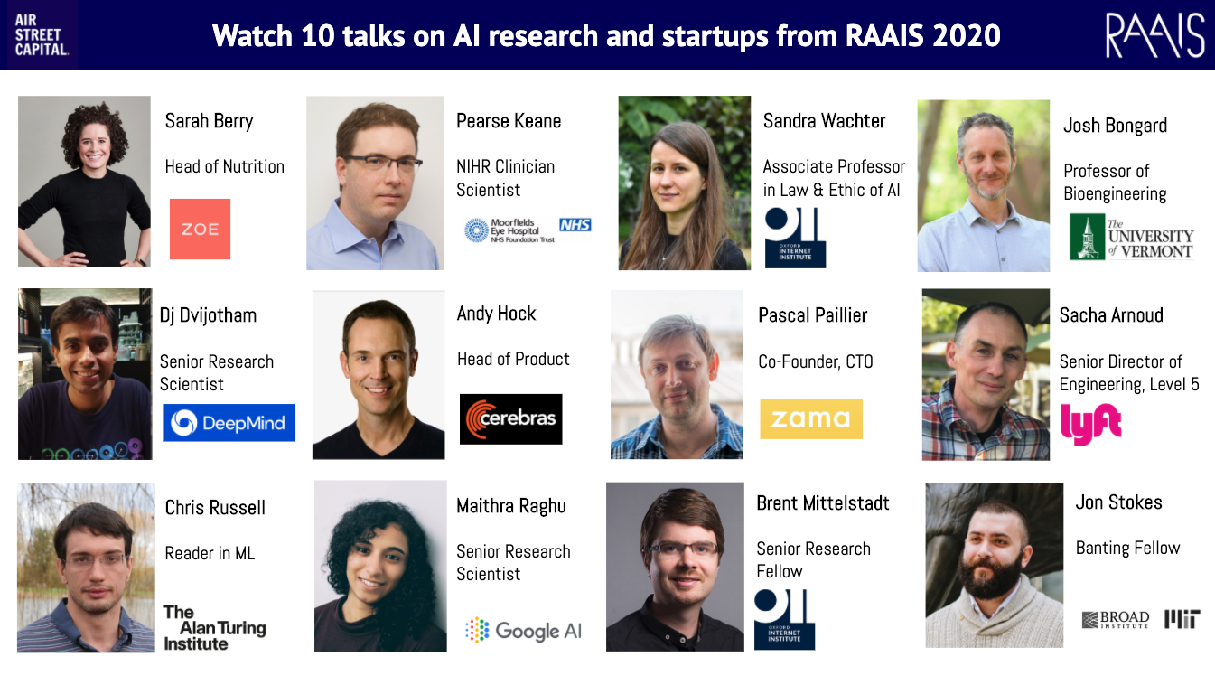 10 talks on building AI-first products and new AI research